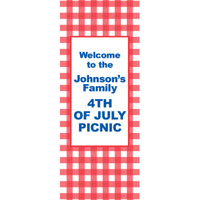 American Red Gingham - Custom Door Banner