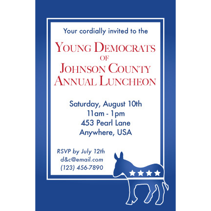Democratic Blue - Custom Invitations