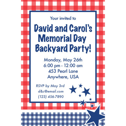 Patriotic Picnic - Custom Invitations