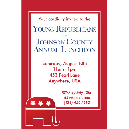 Republican Red - Custom Invitations