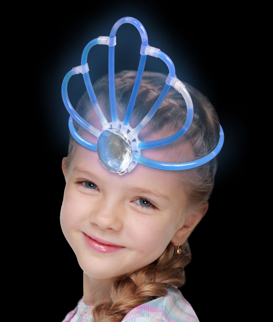 Fun Central AT894 Glow in the Dark Crown- Blue