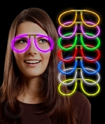 Glow Eye Glasses - Assorted - 6 Pack