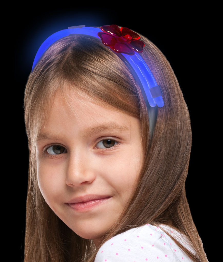 Glow Flower Headband-Blue