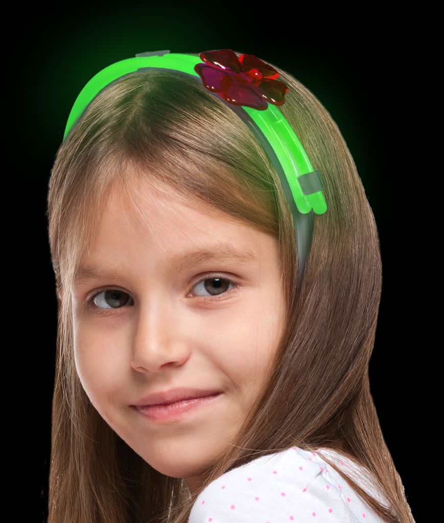 Glow Flower Headband-Green