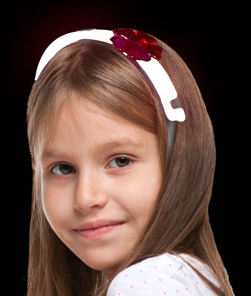 Glow Flower Headband- White