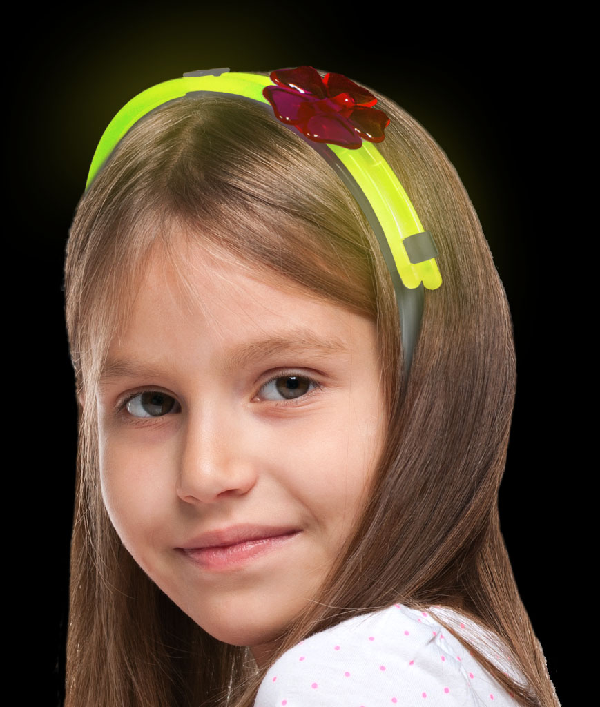 Glow Flower Headband- Yellow