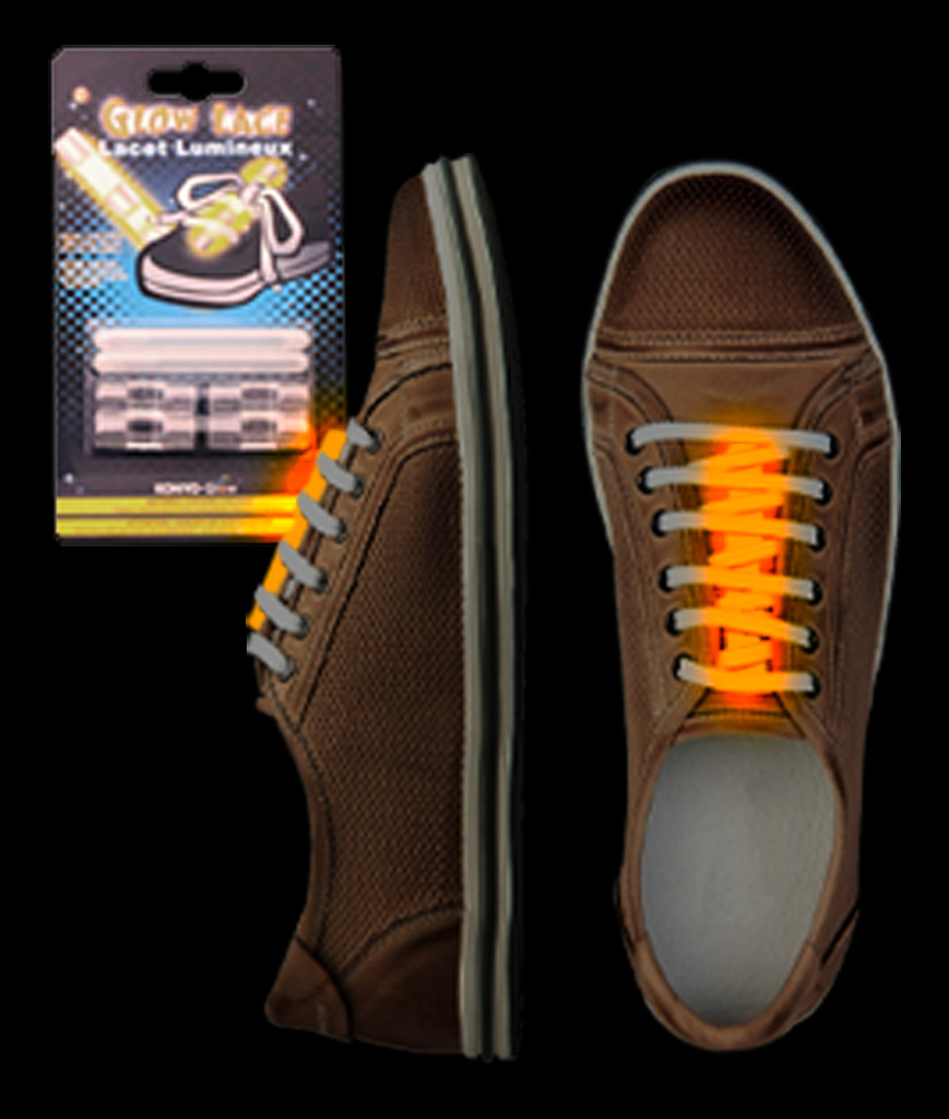 Glow Shoe Laces - Orange