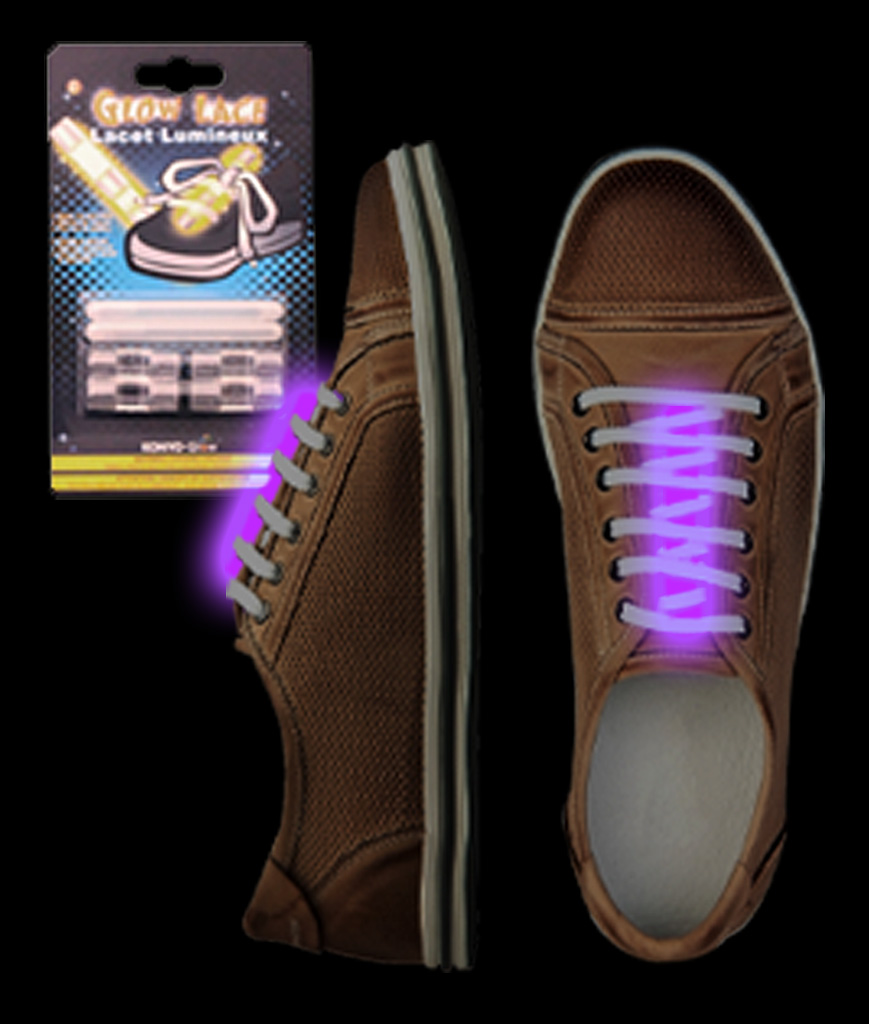 Glow Shoe Laces - Purple