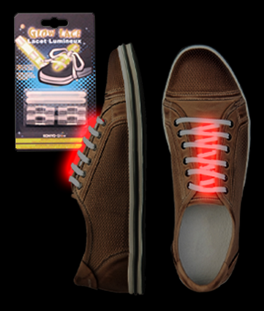 Glow Shoe Laces - Red