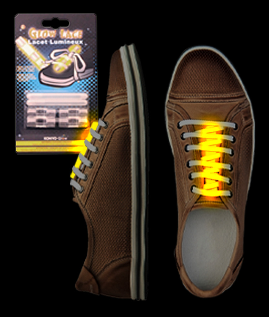 Glow Shoe Laces - Yellow