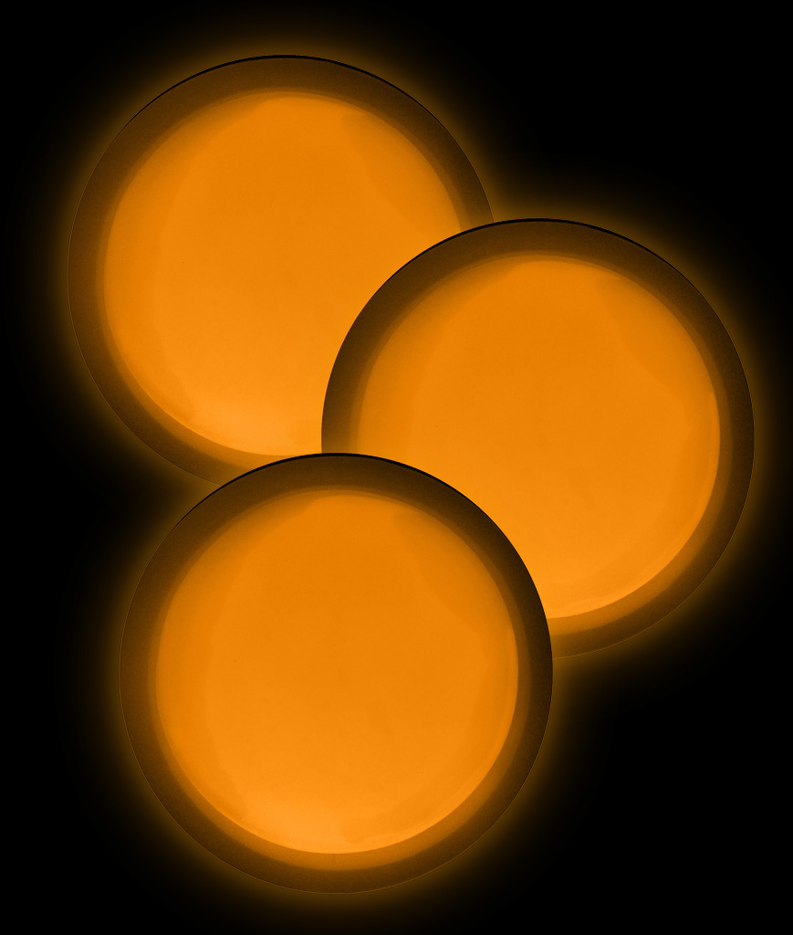 Glow Badge Round - Orange