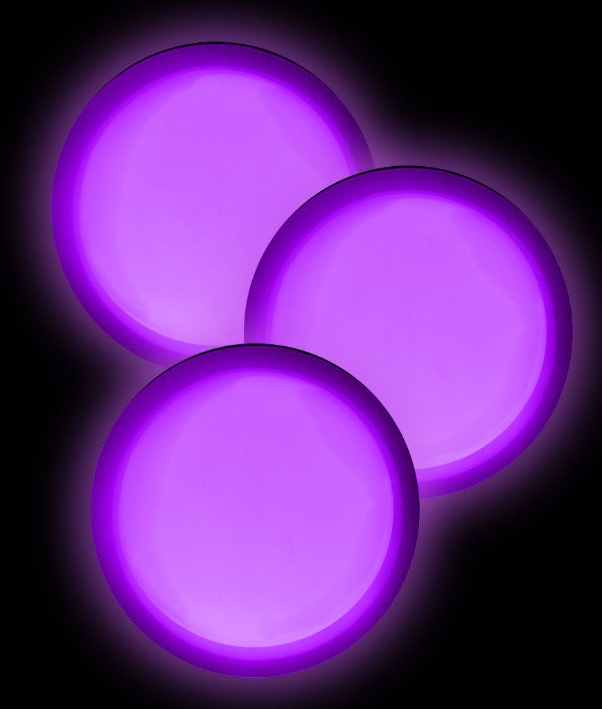 Glow Badge Round - Purple