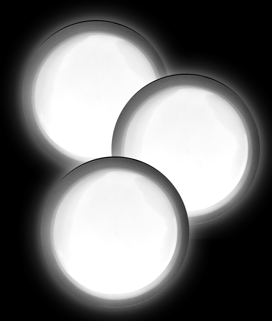 Glow Badge Round - White