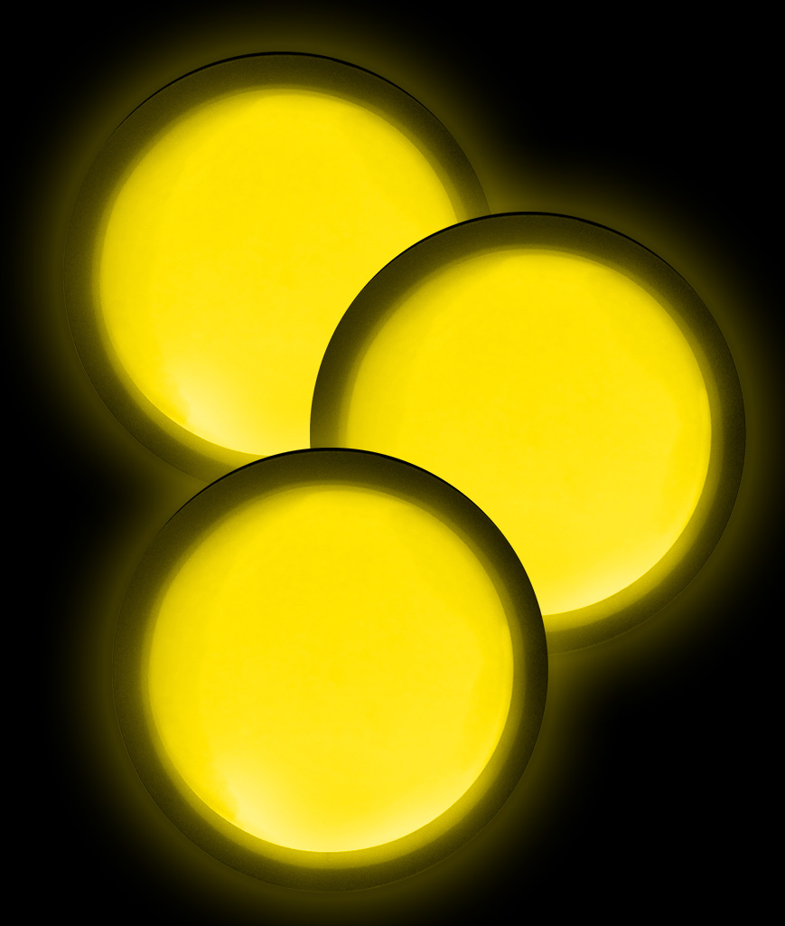 Glow Badge Round - Yellow