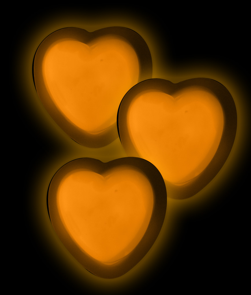 Glow Badge Heart - Orange