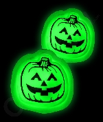 Glow Badge Pumpkin - Green
