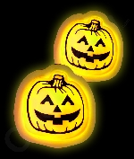 Glow Badge Pumpkin - Yellow