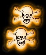 Glow Badge Skull - Orange