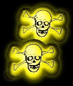 Glow Badge Skull - Yellow