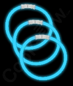 Fun Central J9 8 Inch Glow in the Dark Bracelets - Blue