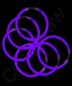 Fun Central P73 8 Inch Glow in the Dark Bracelets - Purple