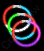 8 Inch Glow Bracelets Tri-Colors - Assorted