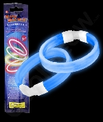 Glow Retail Packaged Triple Wide Bracelet - Blue