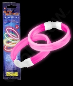 Glow Retail Packaged Triple Wide Bracelet - Pink