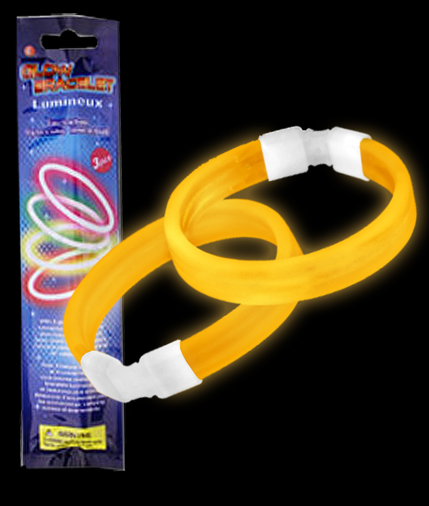 Glow Retail Packaged Triple Wide Bracelet - Orange