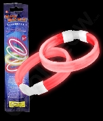 Glow Retail Packaged Triple Wide Bracelet - Red