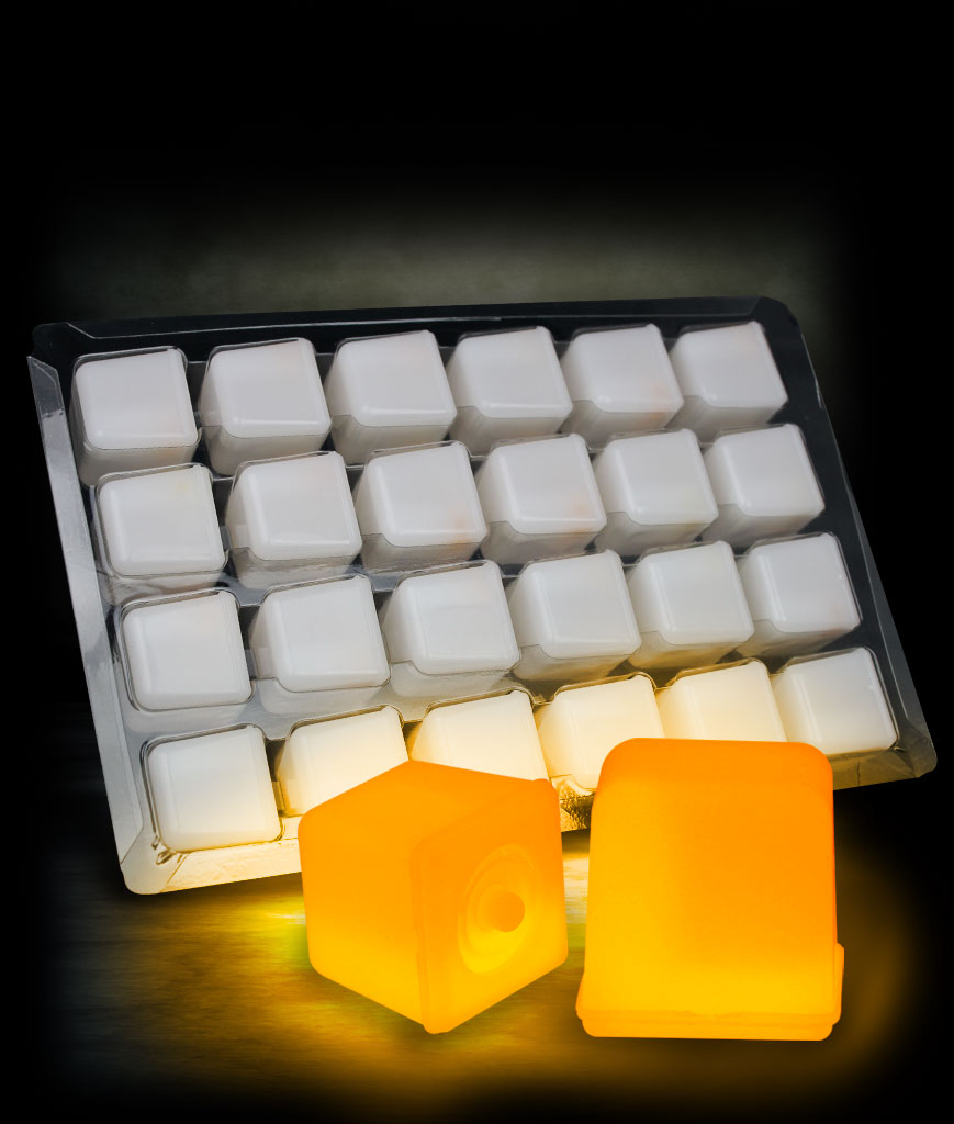 Glowing Ice Cubes - Orange