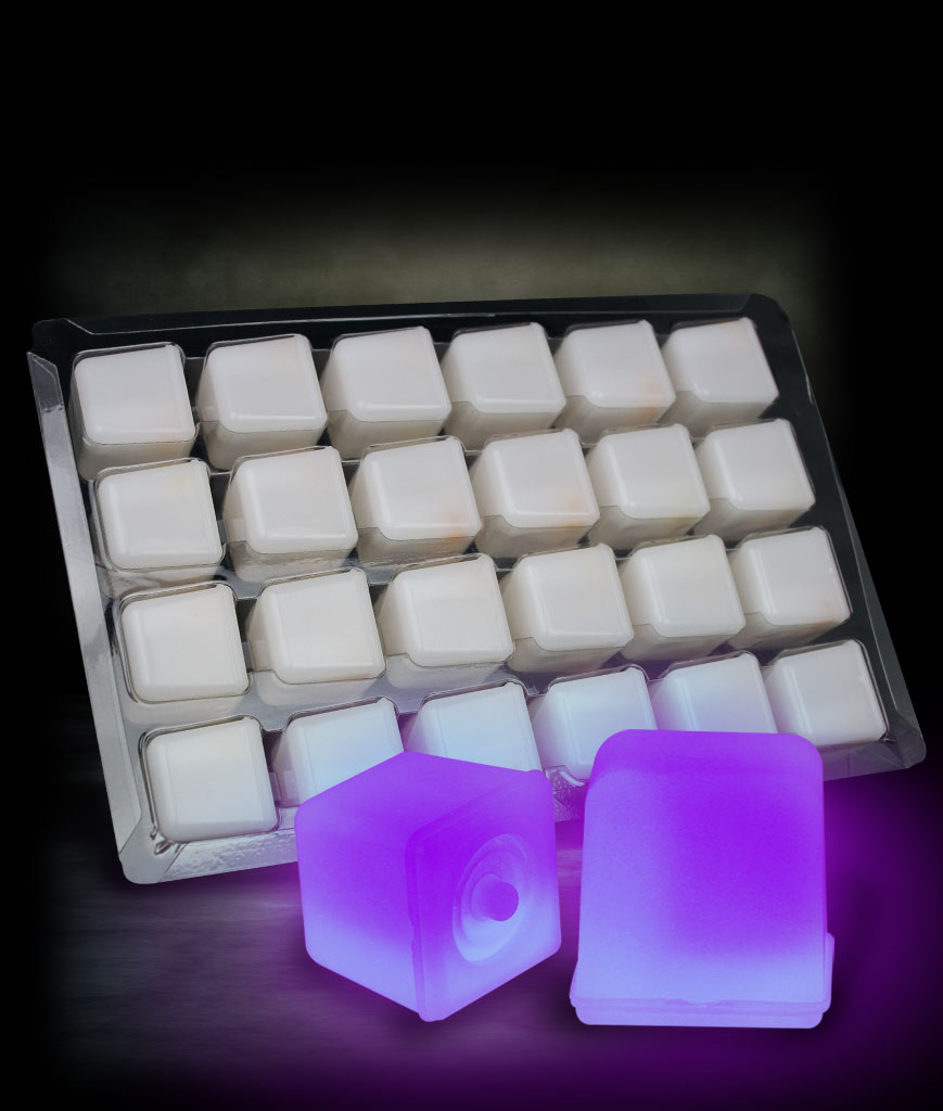 Glowing Ice Cubes - Purple