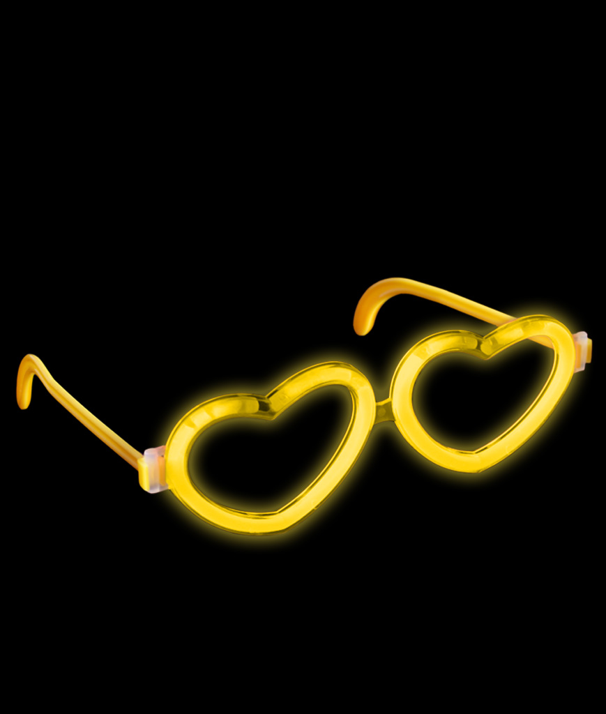 Glow Heart Eyeglasses - Yellow