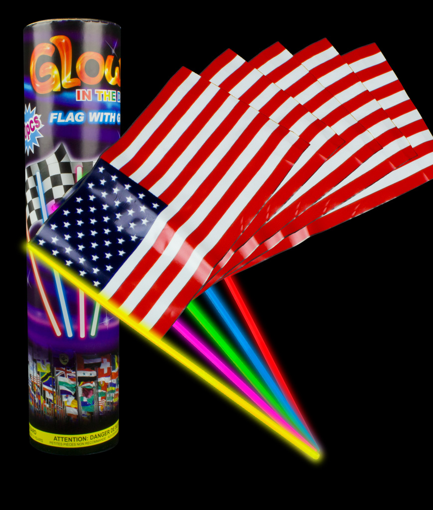 Glow USA Flags - Assorted