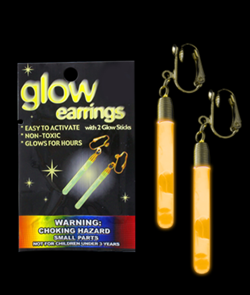 Glow Pendant Earrings - Orange