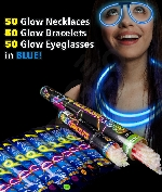Fun Central AM730 Glow in the Dark Party Pack for 50 - Blue