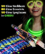 Glow Party Pack for 50 - Green