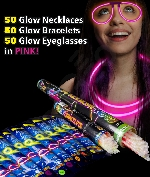 Glow Party Pack for 50 - Pink