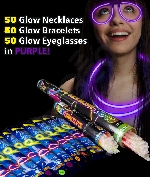 Fun Central AM734 Glow in the Dark Party Pack for 50 - Purple