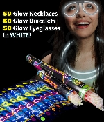 Glow Party Pack for 50 - White