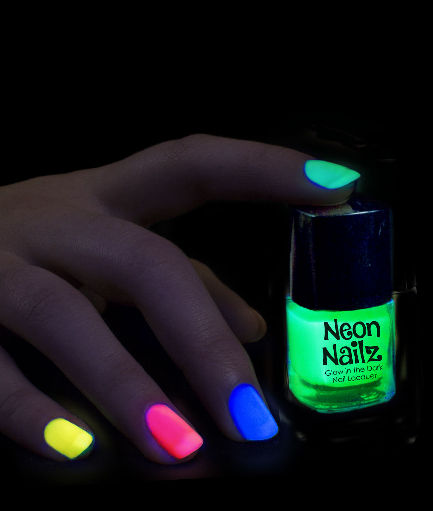 Fun Central AT959 Glow in the Dark in the Dark Nail Polish - Assorted