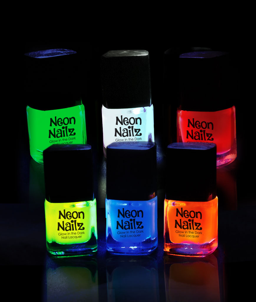 Glow in the Dark Nail Polish - Assorted 6ct