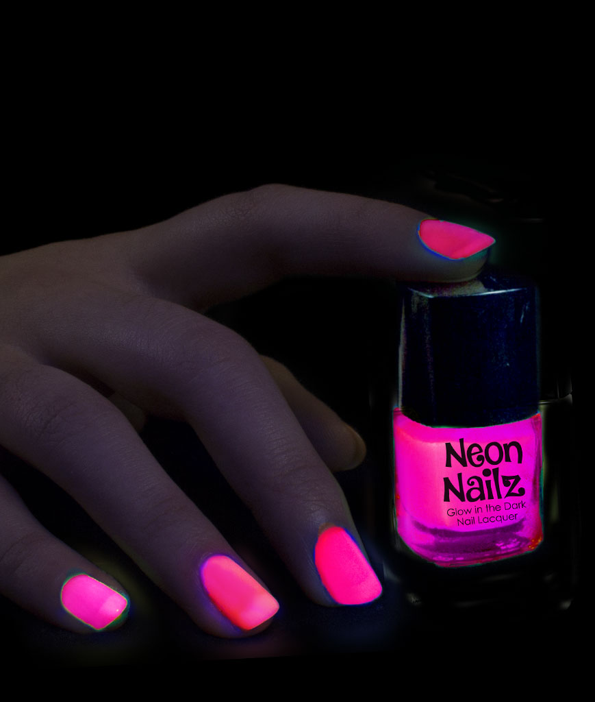 Glow in the Dark Nail Polish-Pink