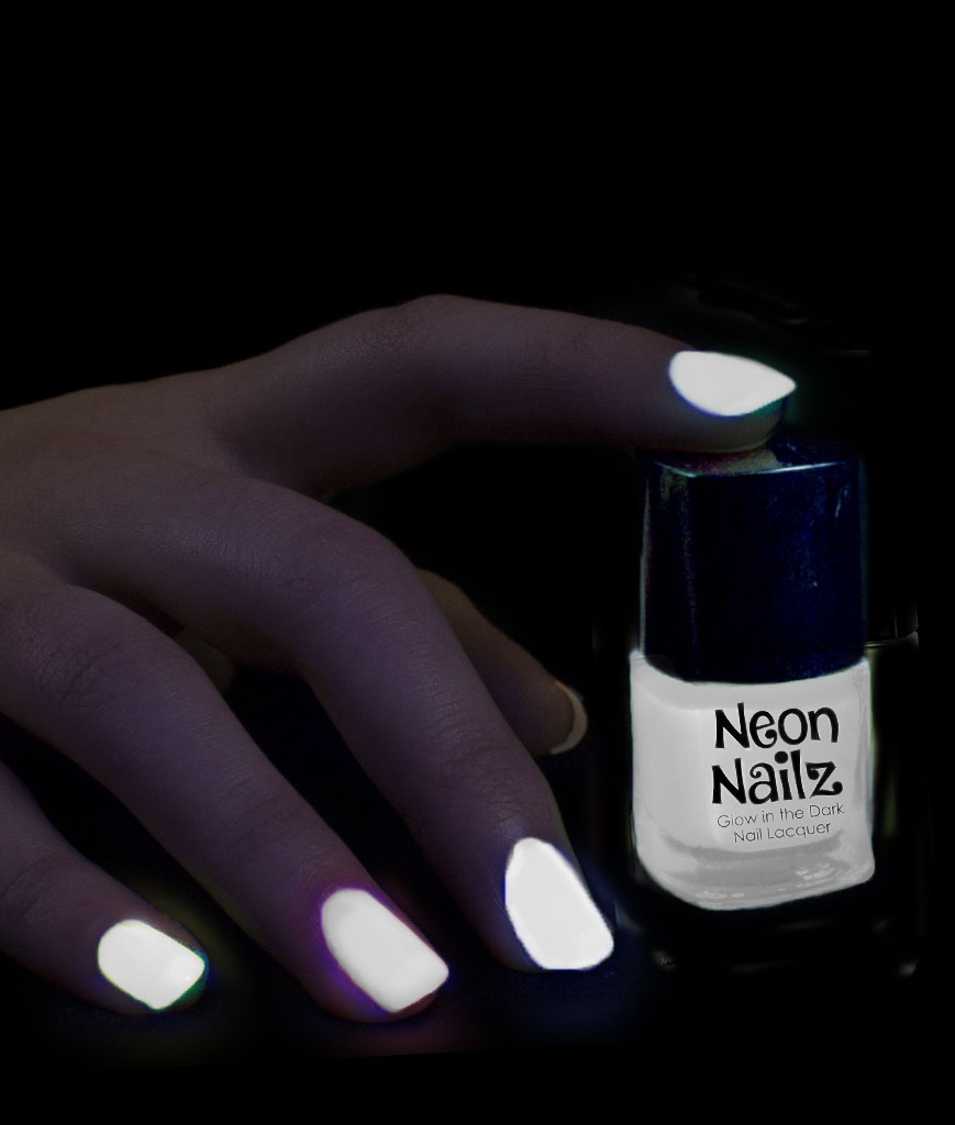 Fun Central AU091 Glow in the Dark in the Dark Nail Polish - White