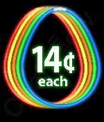 Fun Central J6 22 Inch Premium Glow Stick Necklaces - Assorted Colors 50ct