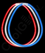 22 Inch Glow Necklaces - Assorted Red-White-Blue