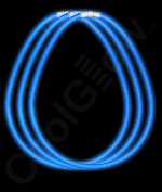 Fun Central S6 22 Inch Glow in the Dark Necklaces - Blue