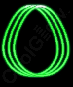 Fun Central S7 22 Inch Glow in the Dark Necklaces - Green