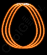 Fun Central S8 22 Inch Glow in the Dark Necklaces - Orange