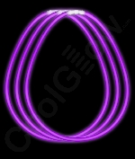 Fun Central J0 22 Inch Glow in the Dark Necklaces - Purple